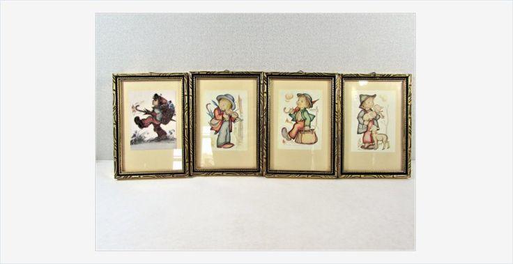 Framed #Hummel Prints Set of 4 Small Frames #art #vintage