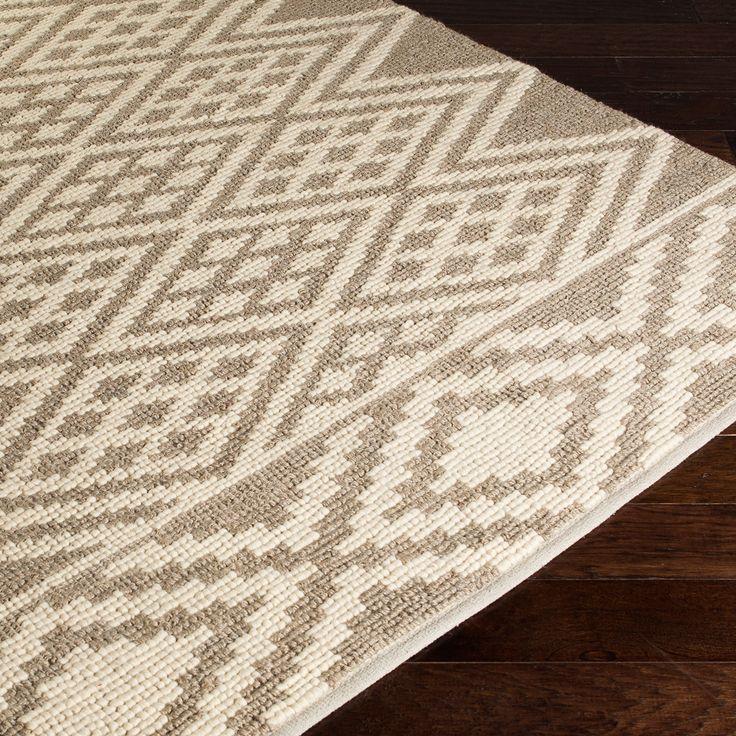 Surya Aztec Taupe Hand Woven Rug @Zinc_Door #zincdoor #rugs #aztec #winterstyle #logcabinchic