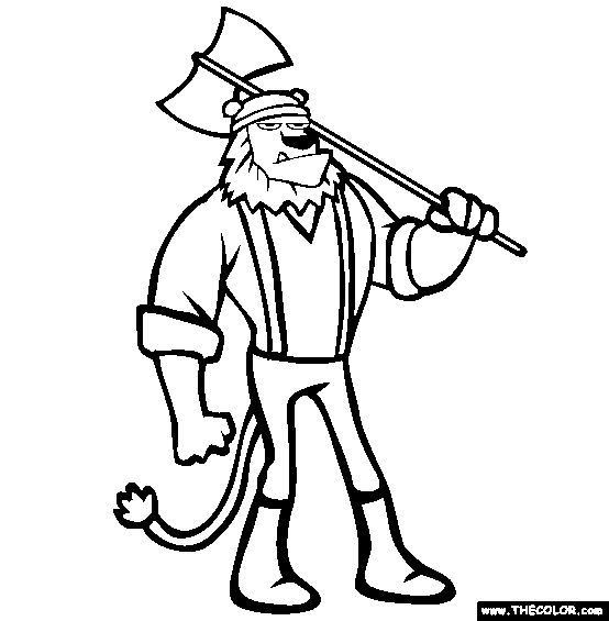 printable lumberjack coloring pages - photo#7