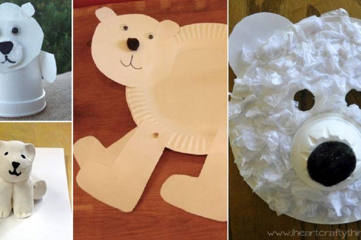 15 Modèles d'ours polaire à bricoler avec les enfants!