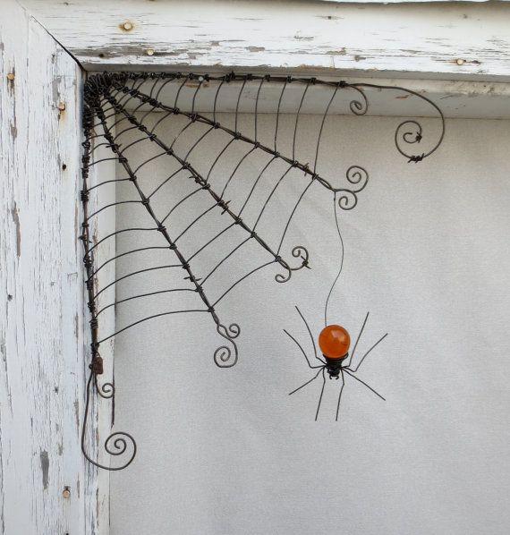 18 Fil de fer barbelé coin araignée araignée par thedustyraven, $58.00