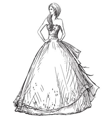 how to draw a silhouette for fashion drawing