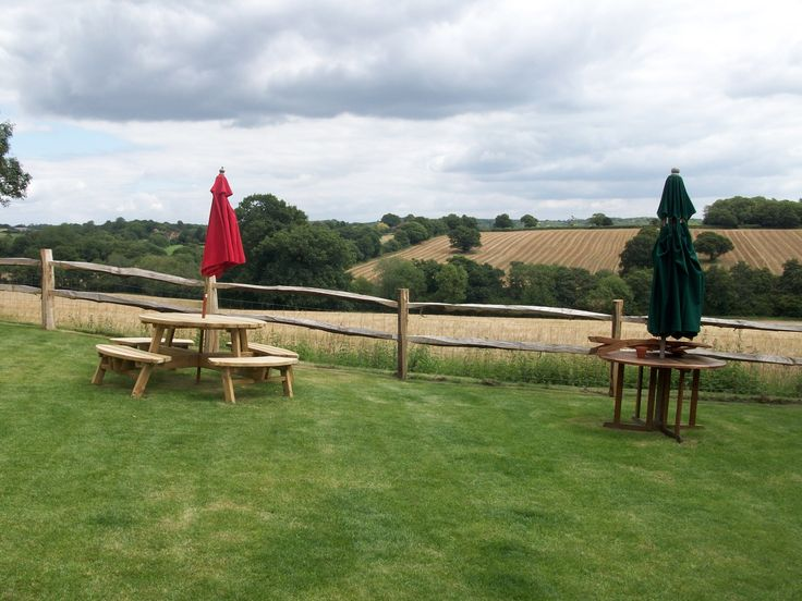Lovely views from The Black Duck pub garden