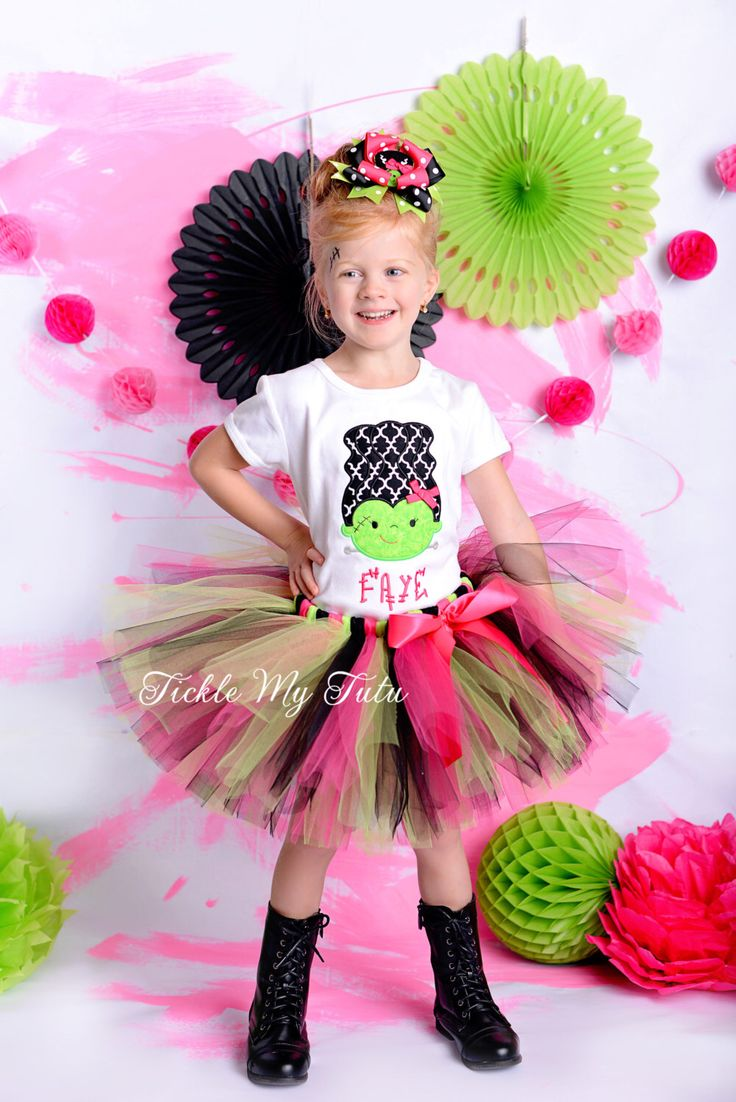 Frankenstein Halloween Tutu Outfit-Girly Monster Halloween Tutu Outfit-Halloween Pageant Outfit - Monster Mash Outfit *Bow NOT Included* by TickleMyTutu on Etsy https://www.etsy.com/listing/475669465/frankenstein-halloween-tutu-outfit-girly