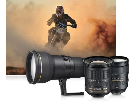 Telephoto and super telephoto lenses for sport and action photography