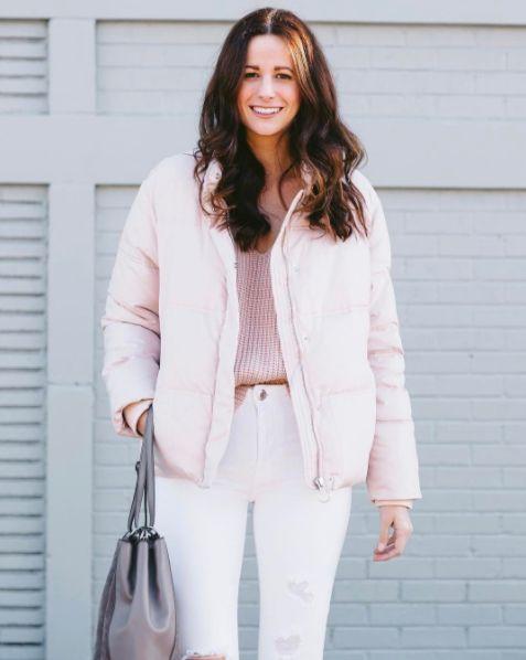 The Miller Affect wearing a pink topshop puffer coat