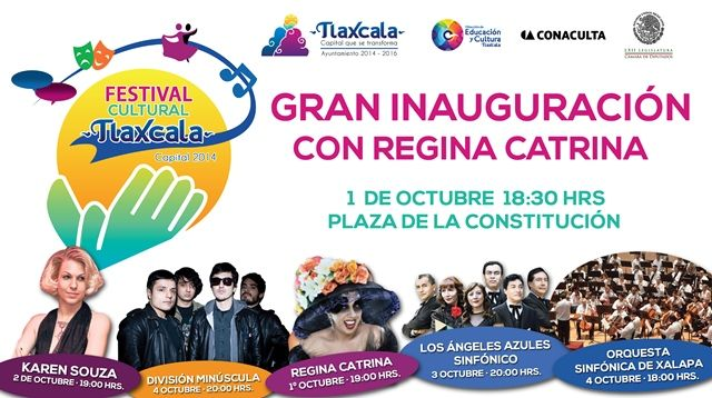 Inicia Festival Cultural Tlaxcala Capital 2014 este miércoles           * En el marco de la conmemoración del 489 Aniversario de la fundación de la ciudad de Tlaxcala.