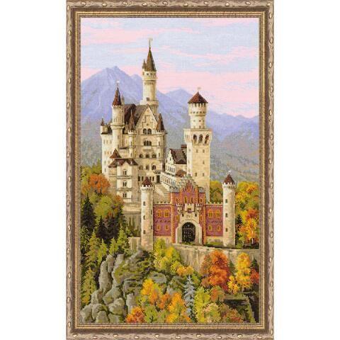 Neuschwanstein Castle Kit & Frame Counted Cross-Stitch