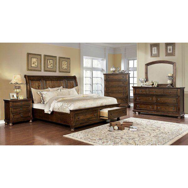 Leiston Sleigh Solid Wood Configurable Bedroom Set In 2020 Furniture Bedroom Furniture Sets Bedroom Sets