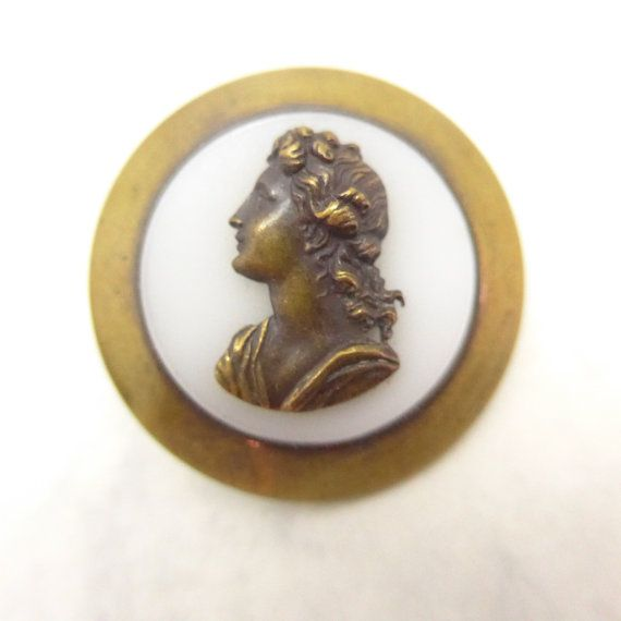 Antique Victorian Cameo Glass Metal Backed by Thecherishedweb