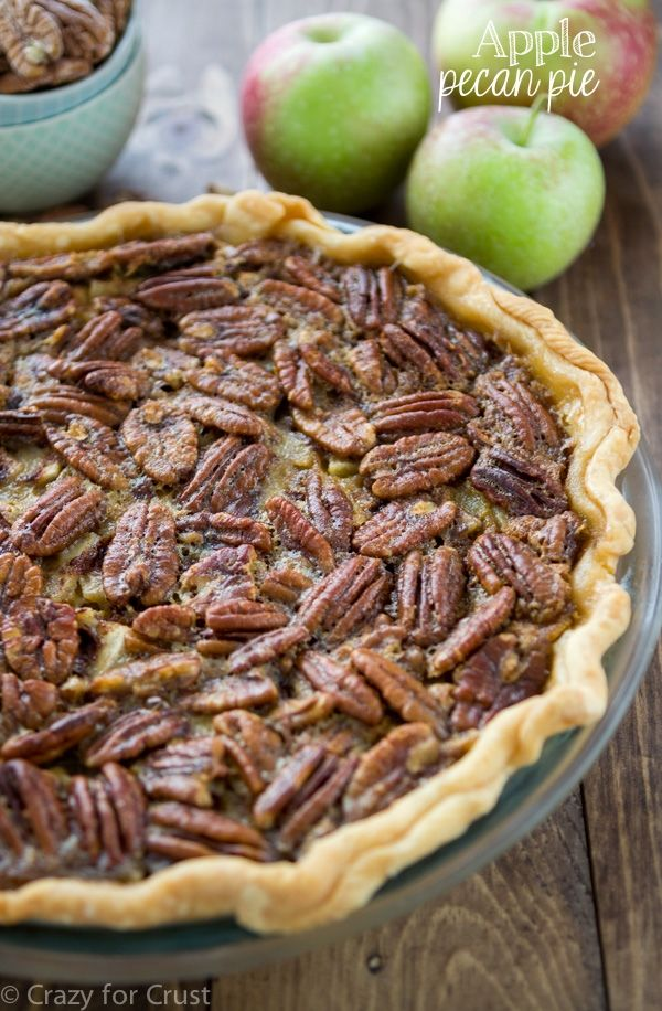 Apple Pecan Pie - an apple pie and a pecan pie all in one! from Crazy For Crust - @crazyforcrust