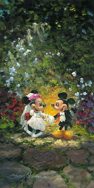 Mickey Mouse - Life is Better Together - Minnie - Original - James Coleman - World-Wide-Art.com