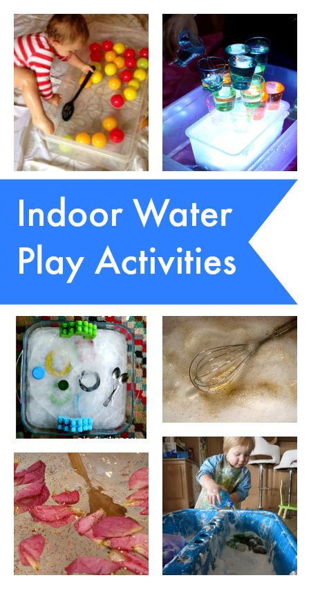 Water play is one of the best sensory play experiences we can offer our children. :: indoor water play activities for babies and toddlers