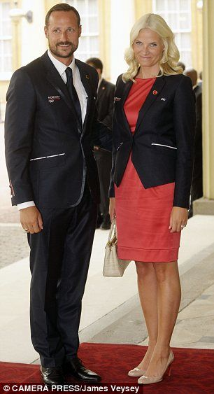 Crown Prince Haakon and Crown Princess Mette-Marit of Norway (right) were also among those in attendance