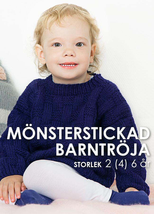 MÖNSTERSTICKAD-BARNTRÖJA