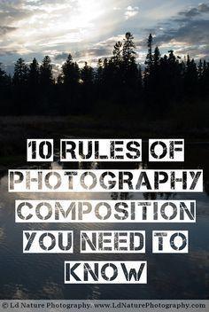 """Desde el artículo del Blog de """"ld nature photography"""" podemos ver 10 reglas…"""