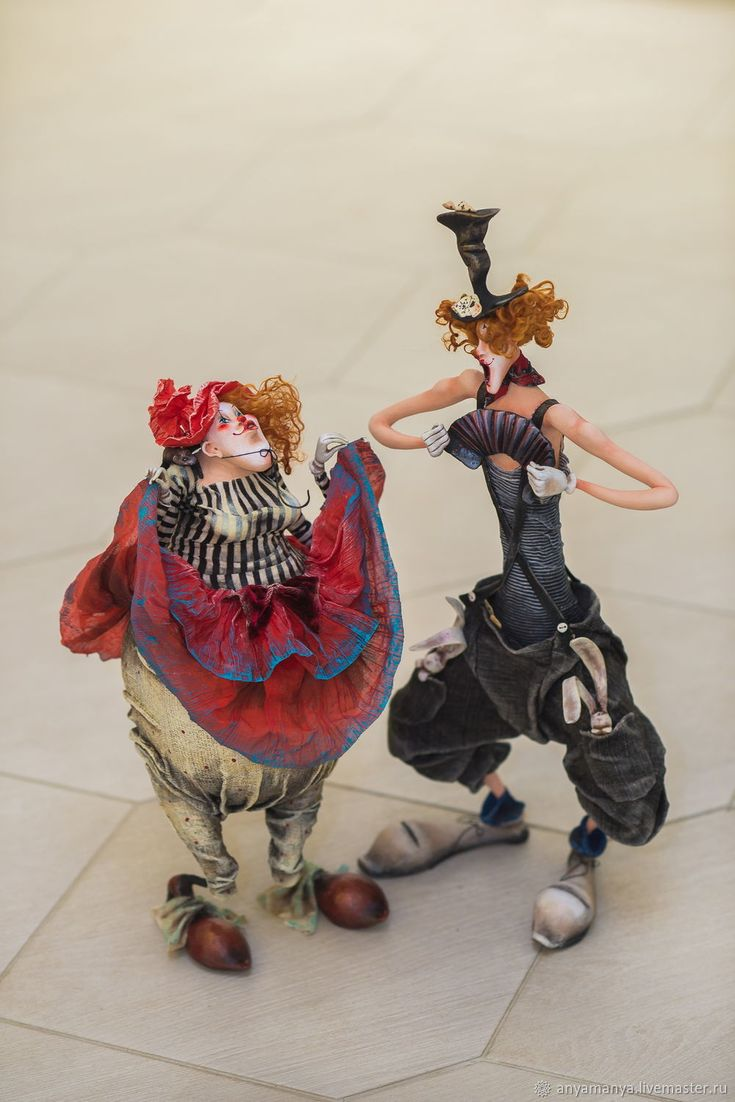 Купить клоунесса Матильда - комбинированный, подарок на любой случай, клоун, авторская работа, ручная работа