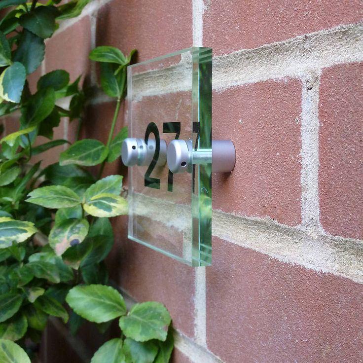 acrylic door number sign by nutmeg signs | notonthehighstreet.com