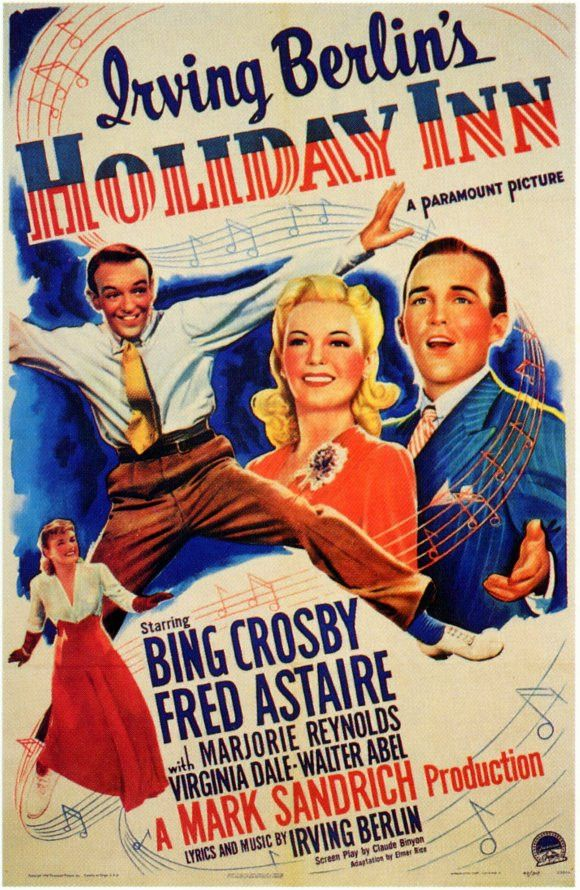 "CAST: Bing Crosby, Fred Astaire, Marjorie Reynolds, Walter Abel, Virginia Dale; DIRECTED BY: Mark Sandrich; PRODUCER: Mark Sandrich; Features: - 11"" x 17"" - Packaged with care - ships in sturdy reinfo"