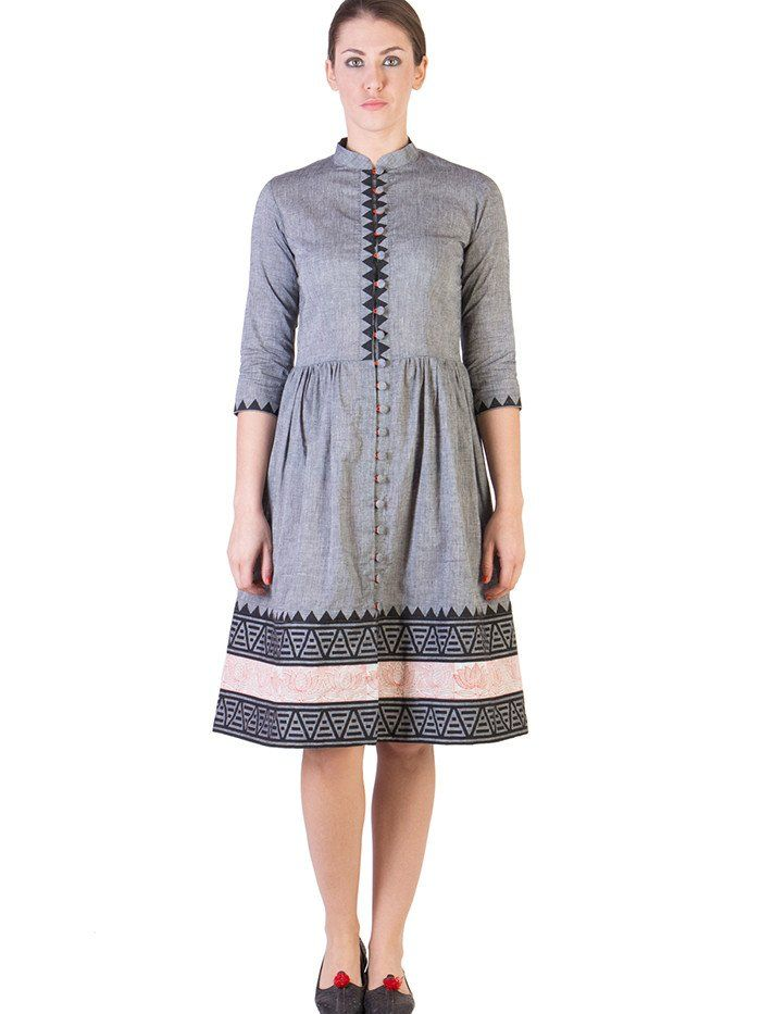Grey Mangalgiri Dress