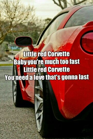 Red corvette  Prince