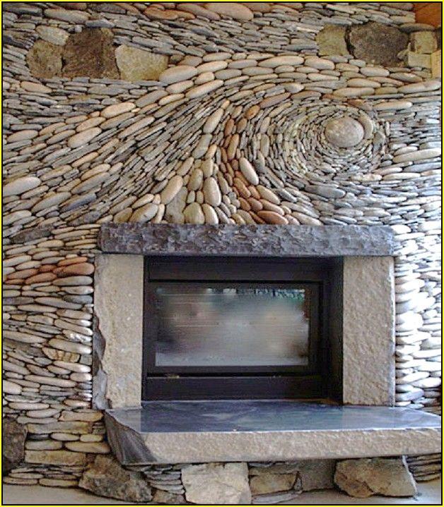 M s de 25 ideas incre bles sobre river rock tile en for Laying river rock