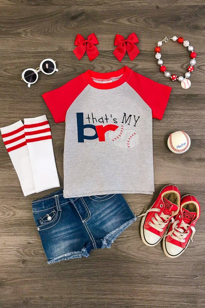 """Baseball """"That's My Bro"""" T-Shirt   Cute outfits for kids ..."""