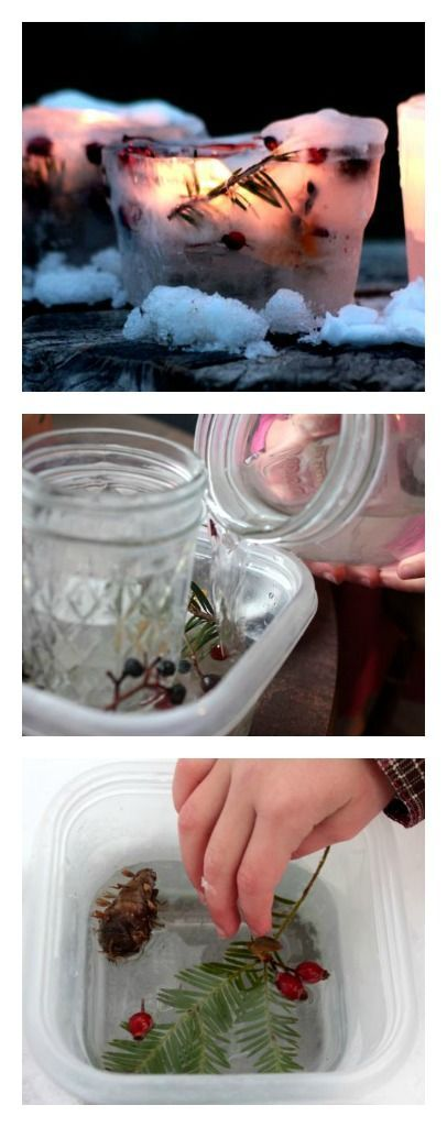 DIY Ice Lanterns❄️ We make these beautiful winter lanterns every year around the Solstice... they're so simple to make, and so fantastically beautiful to see flickering in winter's landscape.