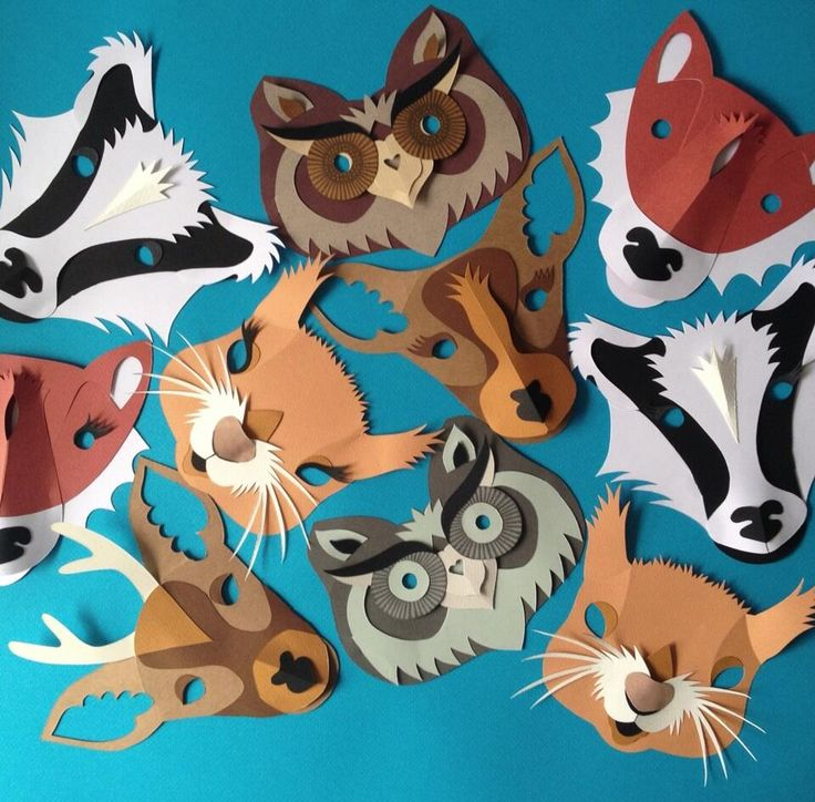 Kids masks by Helen Musselwhite - Sister, how cute would these be hung on the wall?