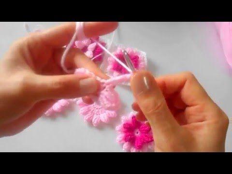 Örgü Bebek Battaniyesi ve Dekoratif Çiçek Yapımı *Deryalı Günler - YouTube