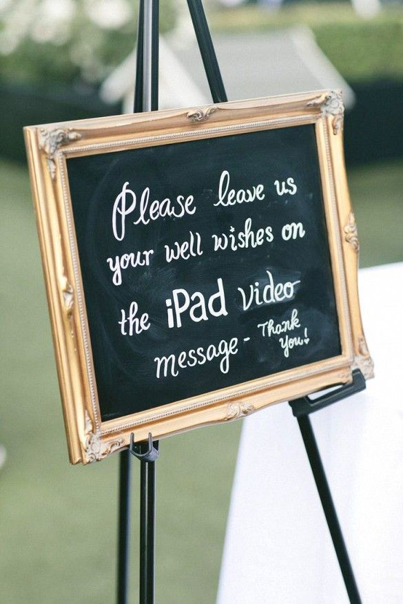 Wedding guest use iPad to leave video messages for the bride & groom - Fantastic wedding + tech idea.