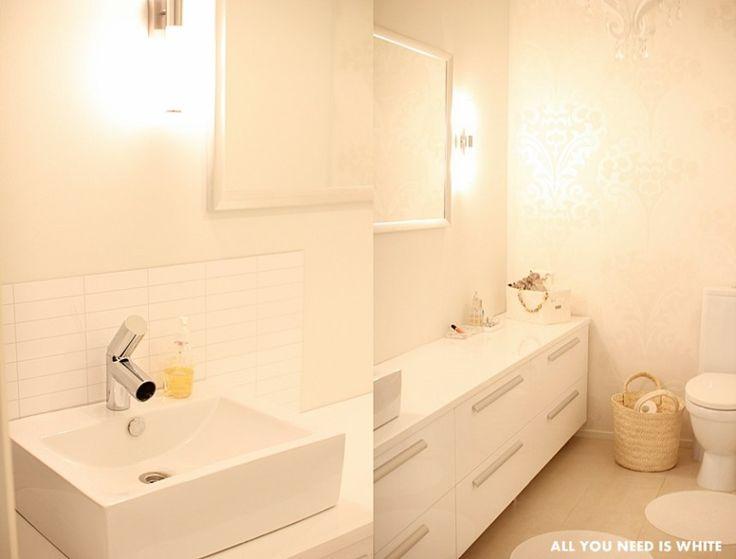 All you need is White -blogissa wc:n miniremppa tehtiin K-raudan tuotteilla. #krauta #wcremontti