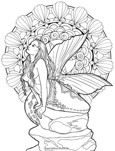 Best Mermaid Coloring Pages Books Mythical Mermaids Fantasy Adult Book By Selina Fenech