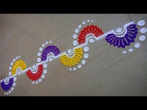 Unique Border Rangoli Design - YouTube
