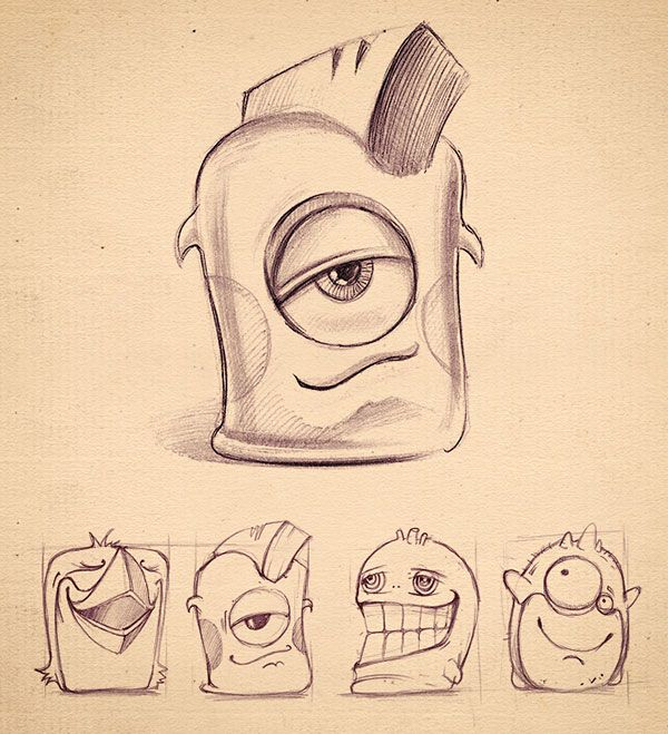 Cute monsters Icon Sketche Beautiful Collection of Icon Sketches for Inspiration