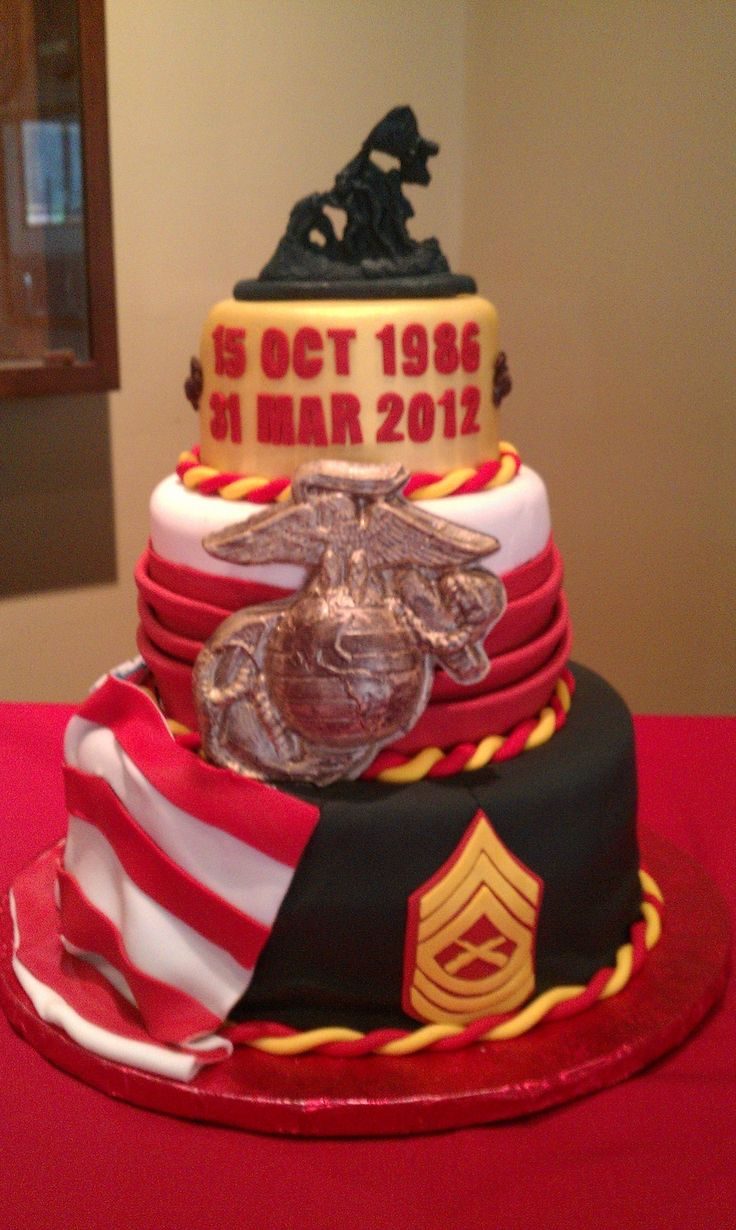 Best 25 marine corps cake ideas on pinterest marine for Army cake decoration
