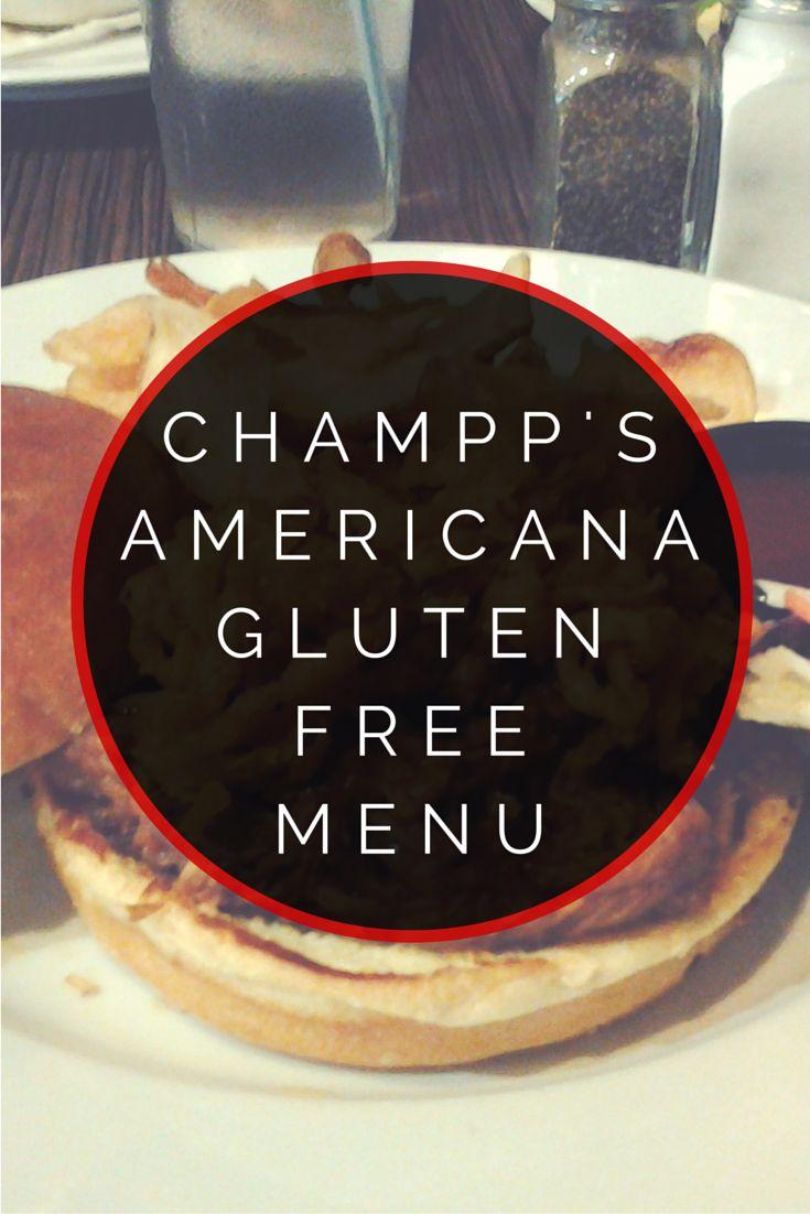 Champps Americana Gluten Free Menu #glutenfree