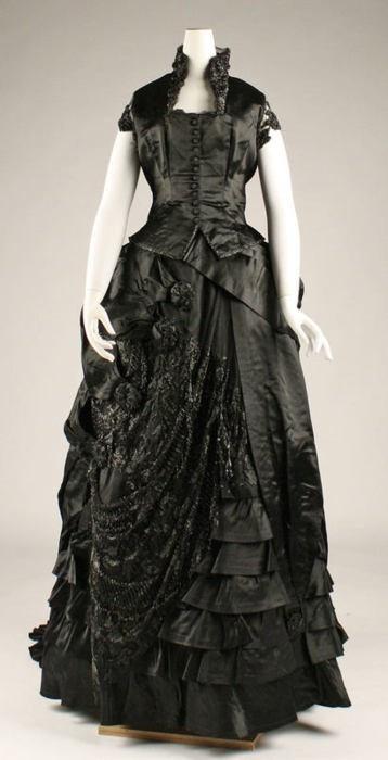 Black Evening Dress 1800's