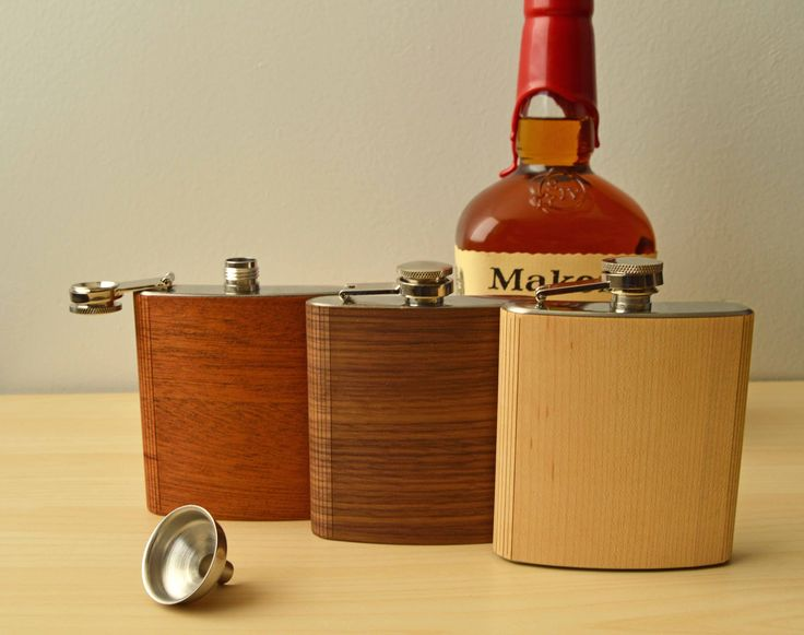 Custom Wood Flasks | Great Gift for Whiskey Lovers | And you can add a custom engraving on the flask for an extra touch!  Shop now at autumnsummerwood.com
