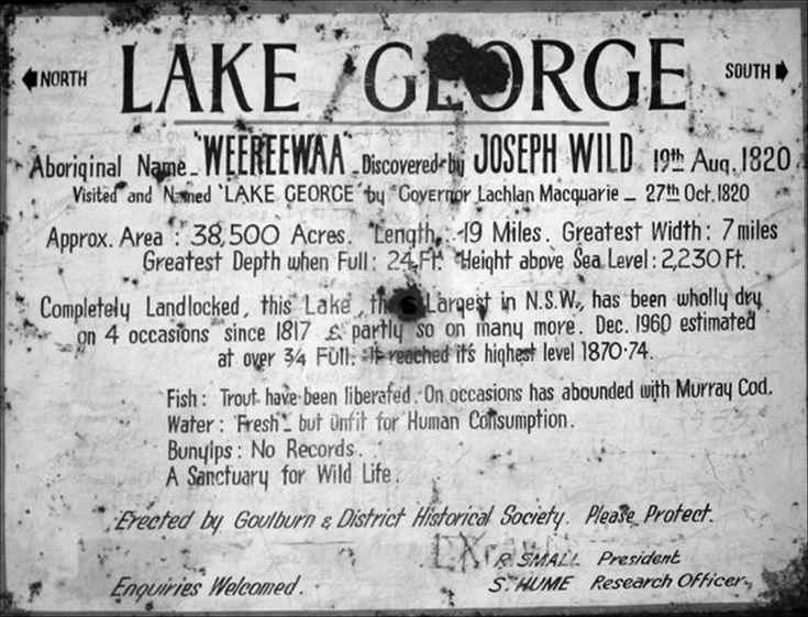 Sign at Lake George