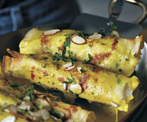 Curry Chicken Crepes Recipe. Save time by using Crepini's Naked Crepes. Ready made to fit your busy schedule.