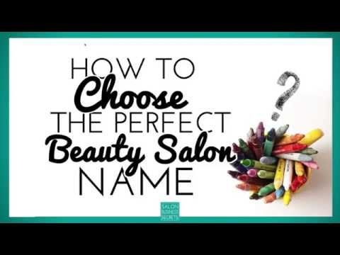 choosing the perfect beauty salon name is really tough even just coming up with beauty salon name ideas can be a challenge when there are so many other - Design Names Ideas