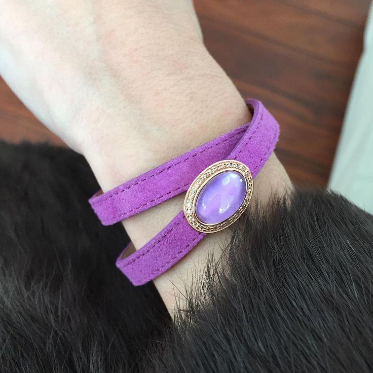 Si te gusta el color lila, la pulsera Sweet con una amatista te encantará   #marinagarciajoyas #welovejewels