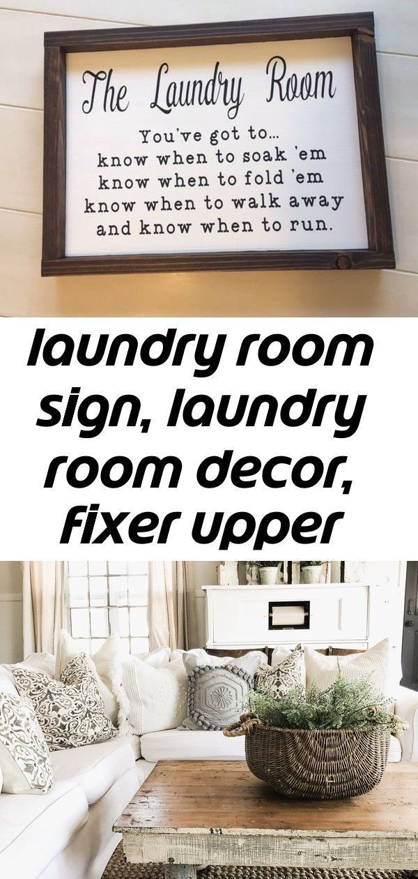 Laundry Room Sign Laundry Room Decor Fixer Upper Wall Decor Funny Laundry Sign Know When To Fo 2 Decor Fixer Funny Laundry Room Sign Upper Wall Laun In 2020 Laundry Room Signs