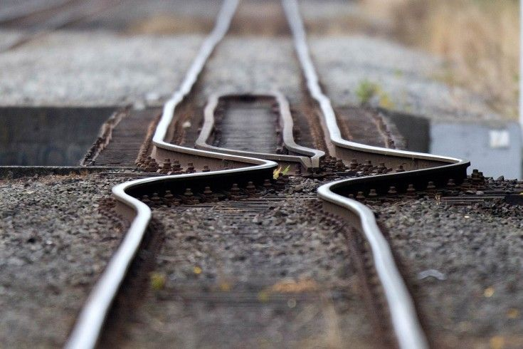 A rail line buckled by the shifting earth is pictured in Christchurch, New Zealand, on Feb. 23, 2011, a day after a deadly 6.3-magnitude earthquake rocked the city.