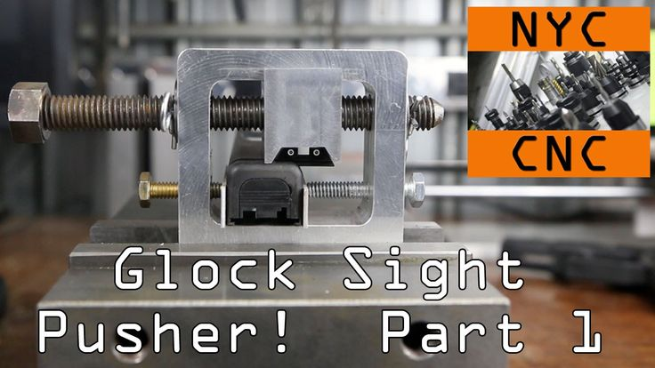 DIY #Glock Rear Sight Pusher Installation Tool! Part 1 - A quick SolidWorks model, toolpaths in SprutCAM and then machining it on the Tormach PCNC 1100