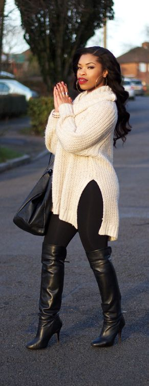 Love this ENTIRE look!! That sweater looks so comfortable.