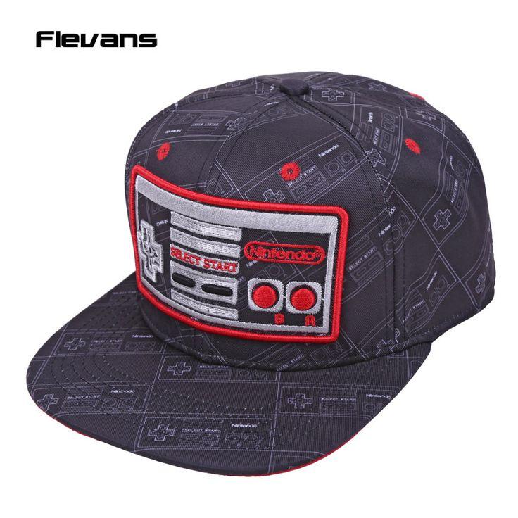 17.76$  Buy now - http://viseh.justgood.pw/vig/item.php?t=km0o4h33739 - Nintendo Console Creative Design Snapback Caps hat Adult Letter Baseball Cap Bbo 17.76$