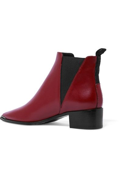 Acne Studios - Jensen Leather Ankle Boots - Brick - IT35
