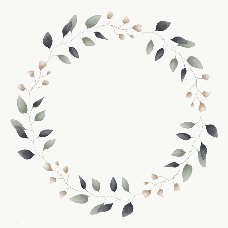 Blank Leafy Frame Social Ads Template Transparent Png Premium Image By Rawpixel Com Adj Floral Border Design Flower Outline Image Glitter